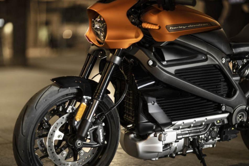 Statt Zylinder hat die Harley Davidson einen Elektro-Motor.