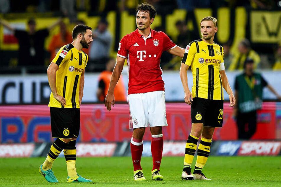 Mats Hummels am 14.08.2016. Auch da war das Finale des Super-Cups im Dortmunder Signal-Iduna-Park. Hummels das erste mal nach seinem Wechsel im Bayern-Trikot.