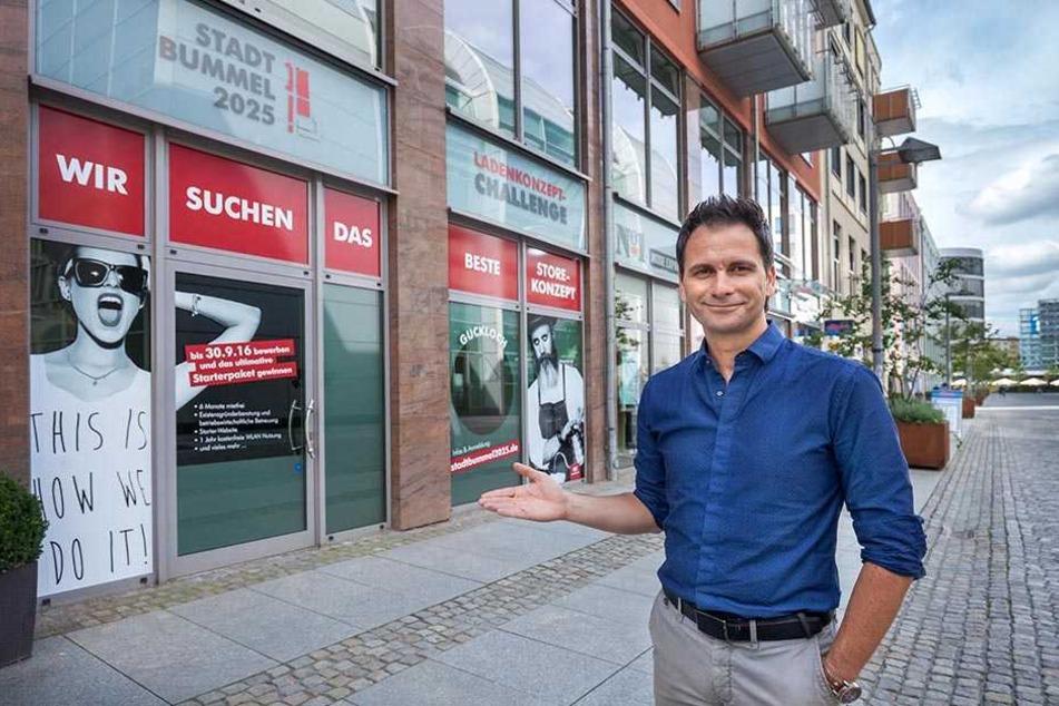 Er sucht mit seinem Team neue Ideen für unsere Innenstadt: Sven Hertwig (45).