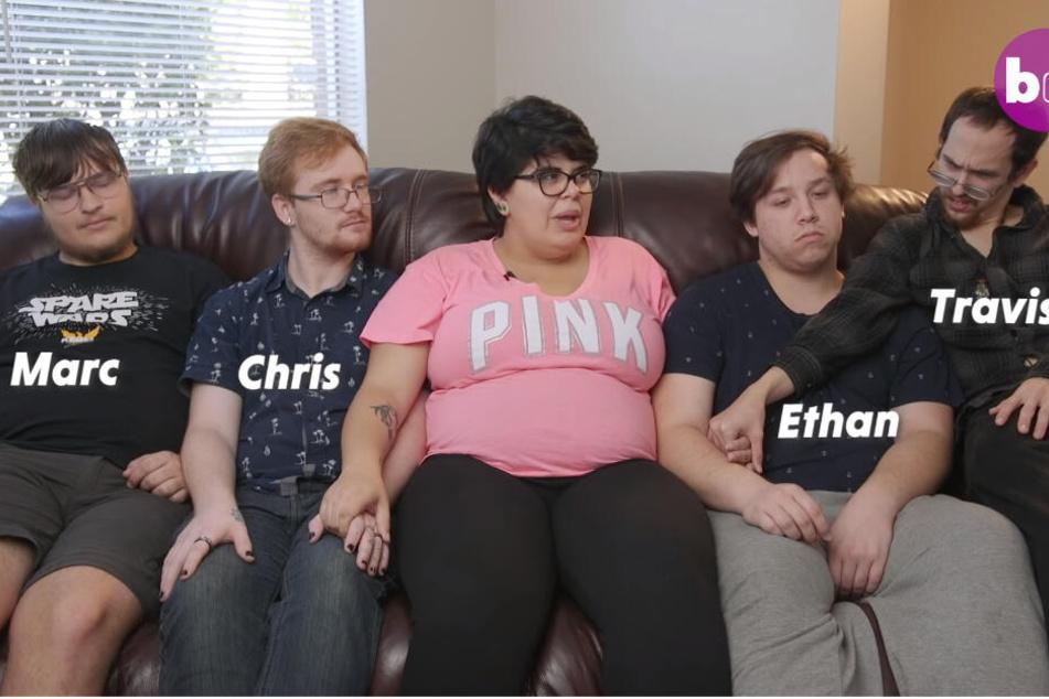 Alle fünf vereint. Marc (18), Christopher (22), Tory (20), Etham (22) und Travis (23).