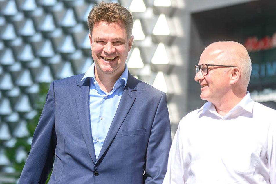 Wachwechsel in der Centrum Galerie: Jürgen Wolf (57, r.) übernimmt den Chefposten von Dirk Fittkau (47).