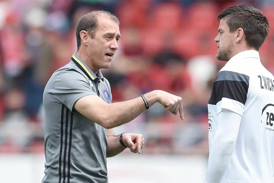 Der neue und der alte FSV-Coach: Joe Enochs (l.) und Torsten Ziegner schätzen sich und ihre Arbeit.