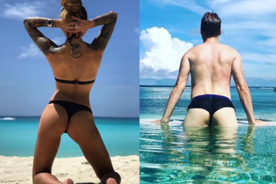 Der direkte Vergleich: Oliver Pocher (39, r.) muss sich neben Sophia Thomalla (28) wirklich nicht verstecken.