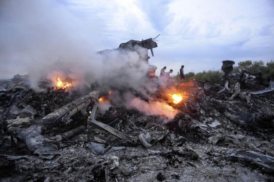 Das Trümmerfeld des abgeschossenen MH17-Fluges.