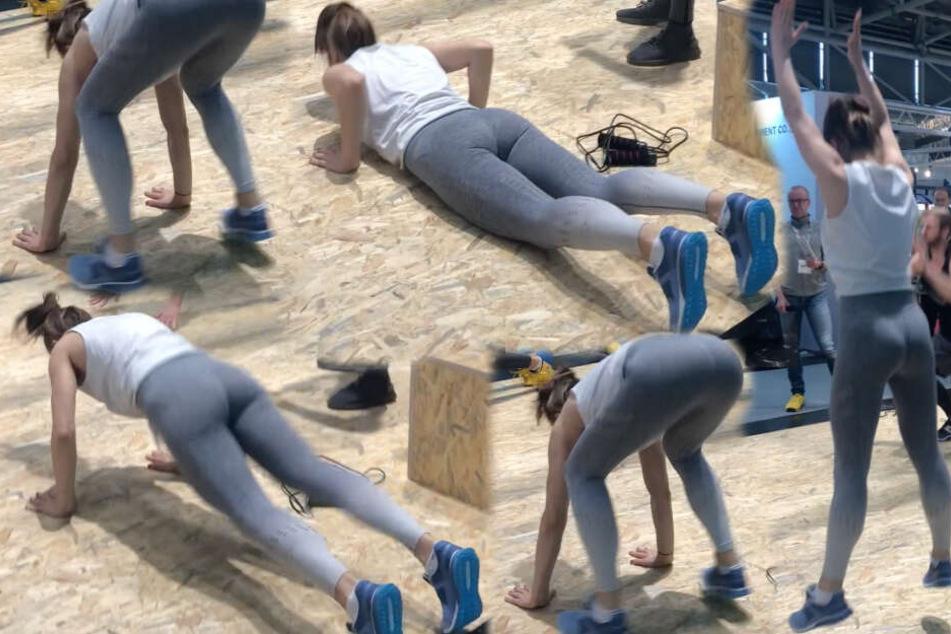 Burpees: Die einzelnen Übungen sollten fließend als Bewegungsablauf durchgeführt werden.