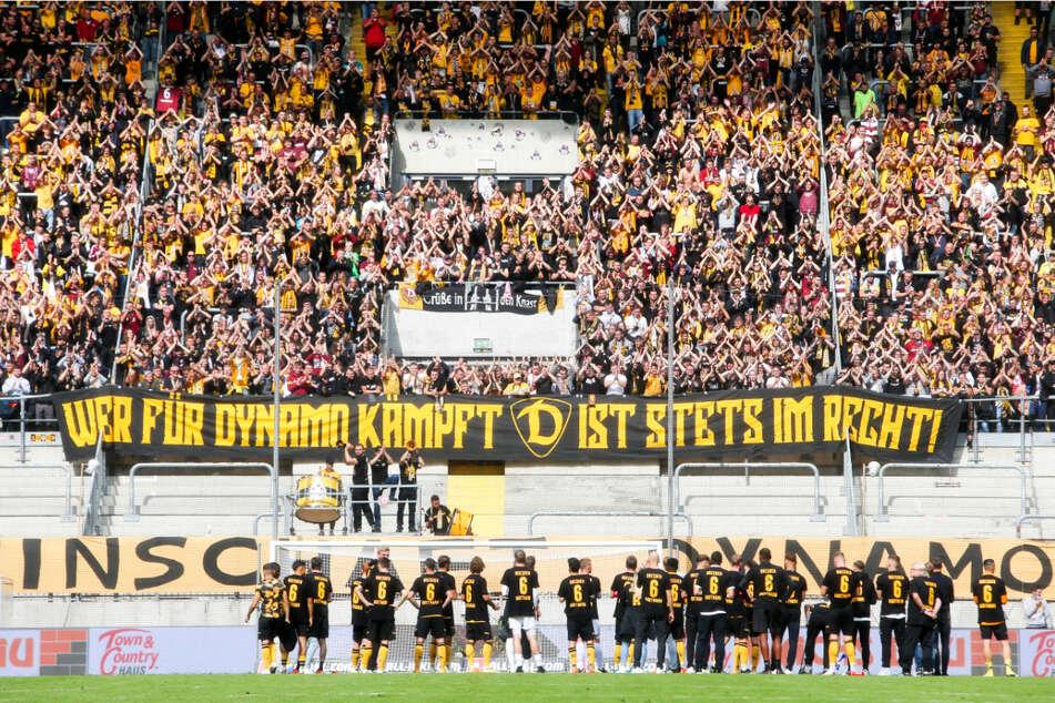 Dynamos Fans unterstützten ihre Mannschaft trotz der klaren Heimniederlage vorbildlich.