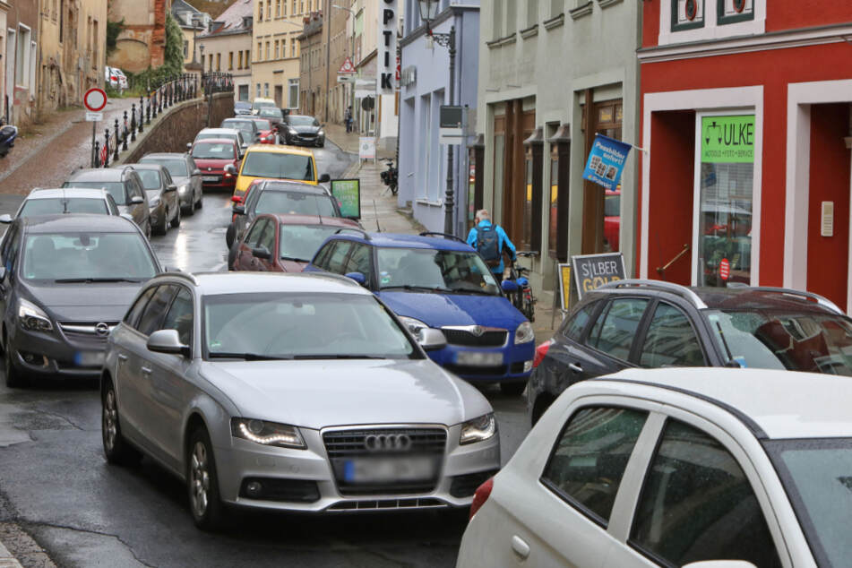 Auf der Dresdner Straße gab es einen langen Stau.