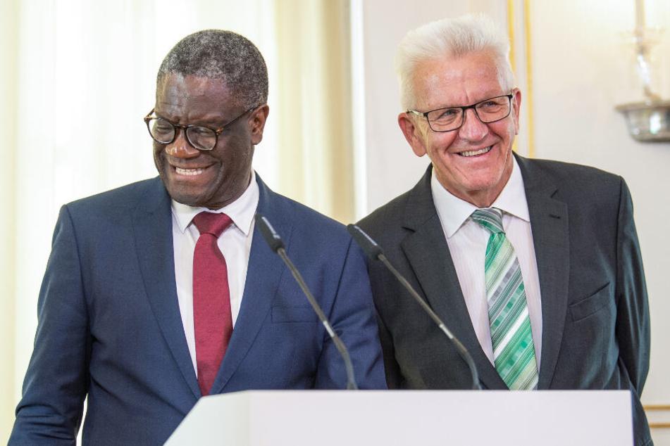 Denis Mukwege (links im Bild) und Winfried Kretschmann.