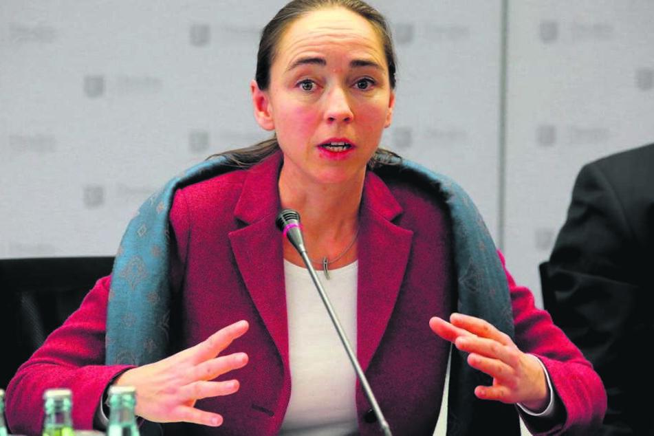 Sozialbürgermeisterin Kristin Kaufmann (40, Die Linke).