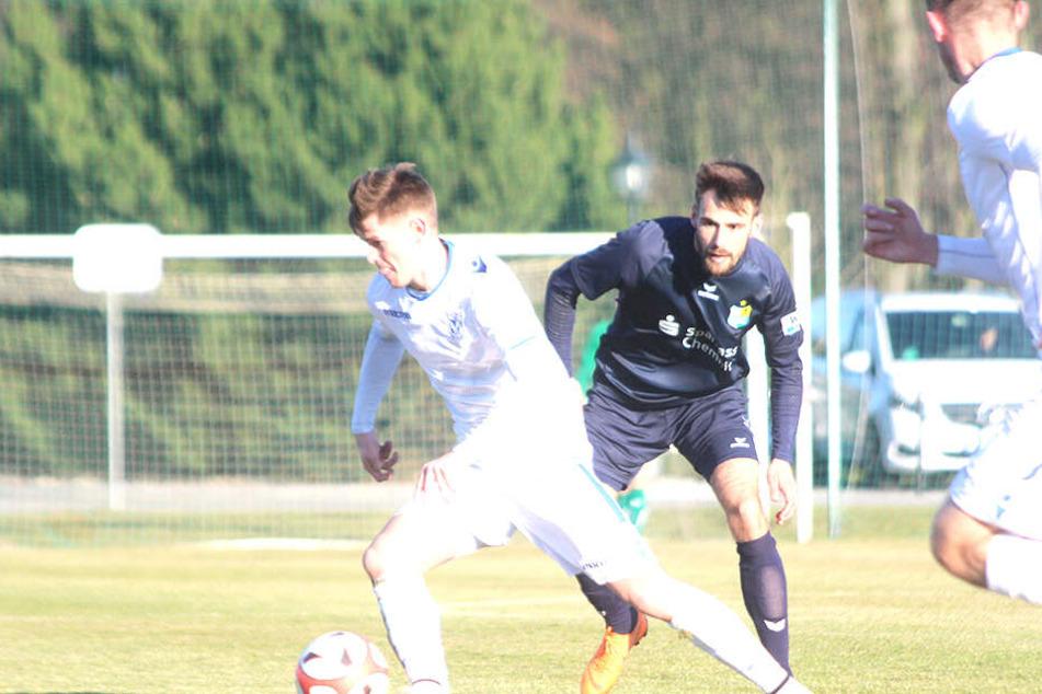 Neuzugang Liridon Vocaj stand erstmals in der CFC-Startelf. Der gebürtige Kosovare kam im Winter aus der Vereinslosigkeit.