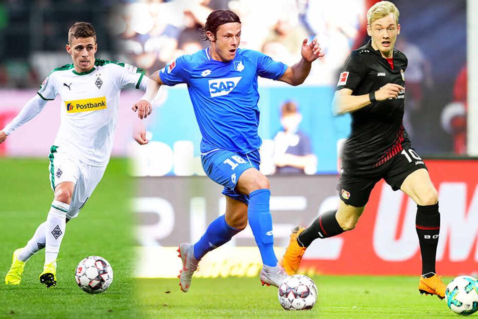 Von links: Thorgan Hazard , Nico Schulz und Julian Brandt verstärken den BVB. (Bildmontage)