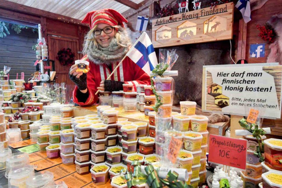 Bei Niina Turunen und ihrem finnischen Honig bleiben viele Kunden kleben.