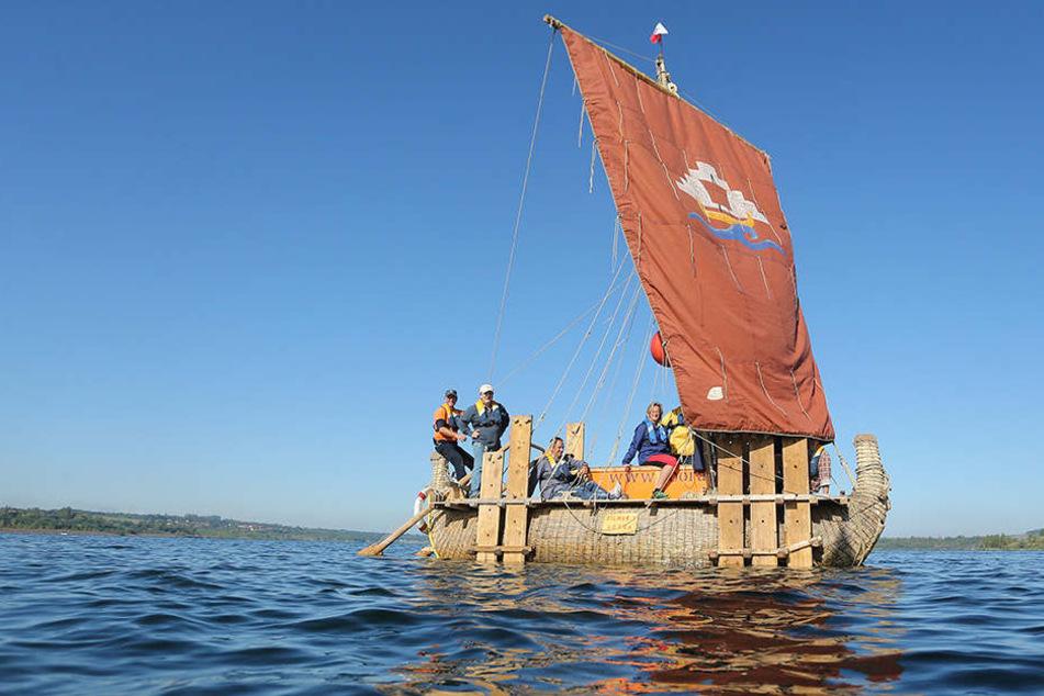 Mit so einem Schilfboot will Dominique Görlitz von Sotchi aus über das Schwarze Meer ins Mittelmeer, bis nach Kreta fahren.