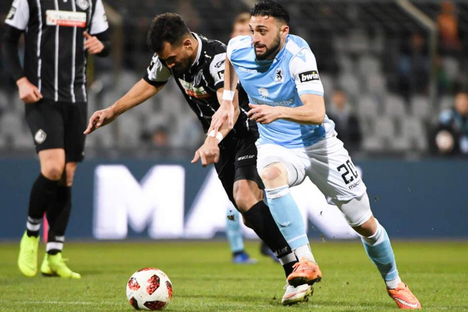 Gegen den VfR Aalen feierte der TSV 1860 München einen äußerst knappen 2:1-Sieg.