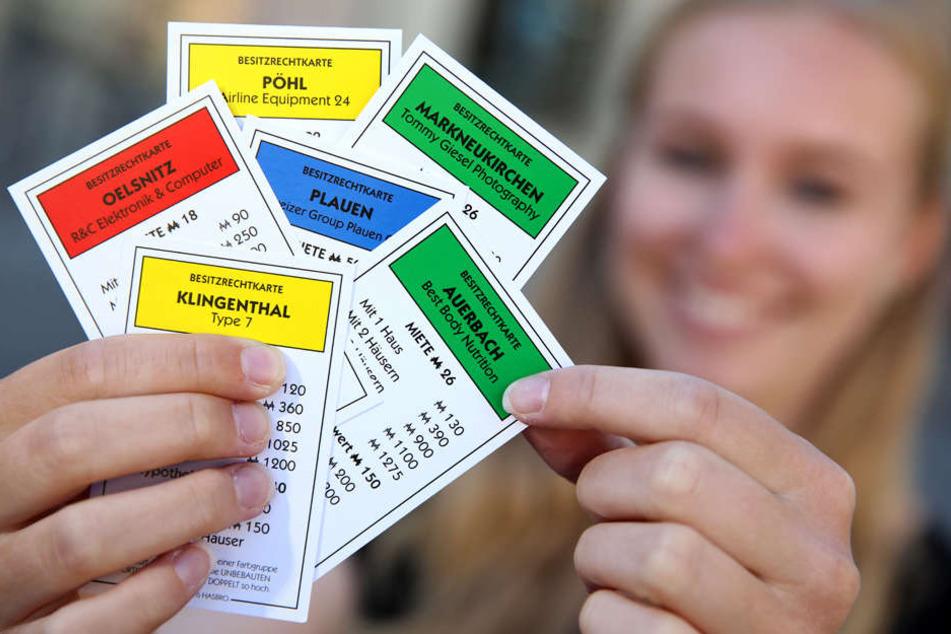 22 Orte und individualisierte Spielkarten gibt es in dem Spiel.