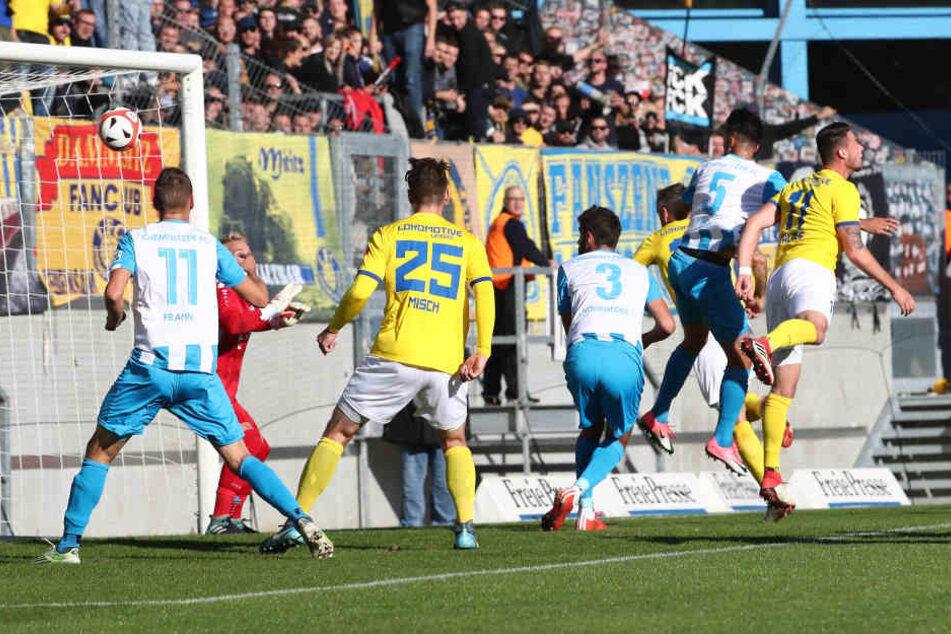 Hier trifft Kostadin Velkov zum 1:0 für den CFC.