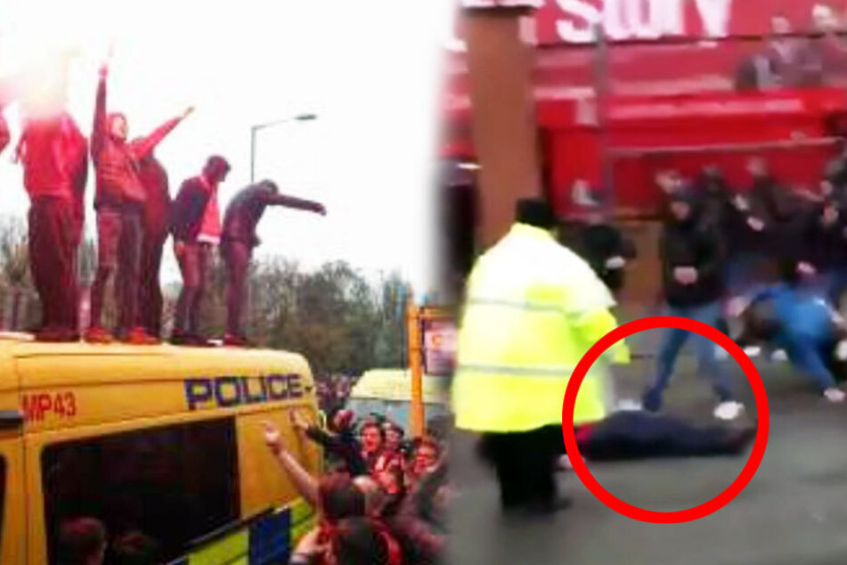 Der irische Mann liegt schwer verletzt am Boden.