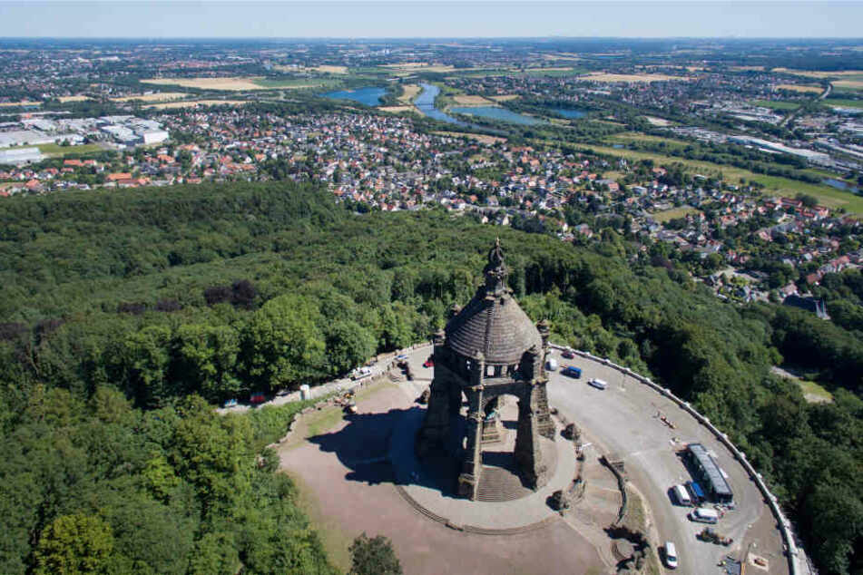 Das Wilhelms-Denkmal zog mit seinem neuen Besucherzentrum viele Menschen an.