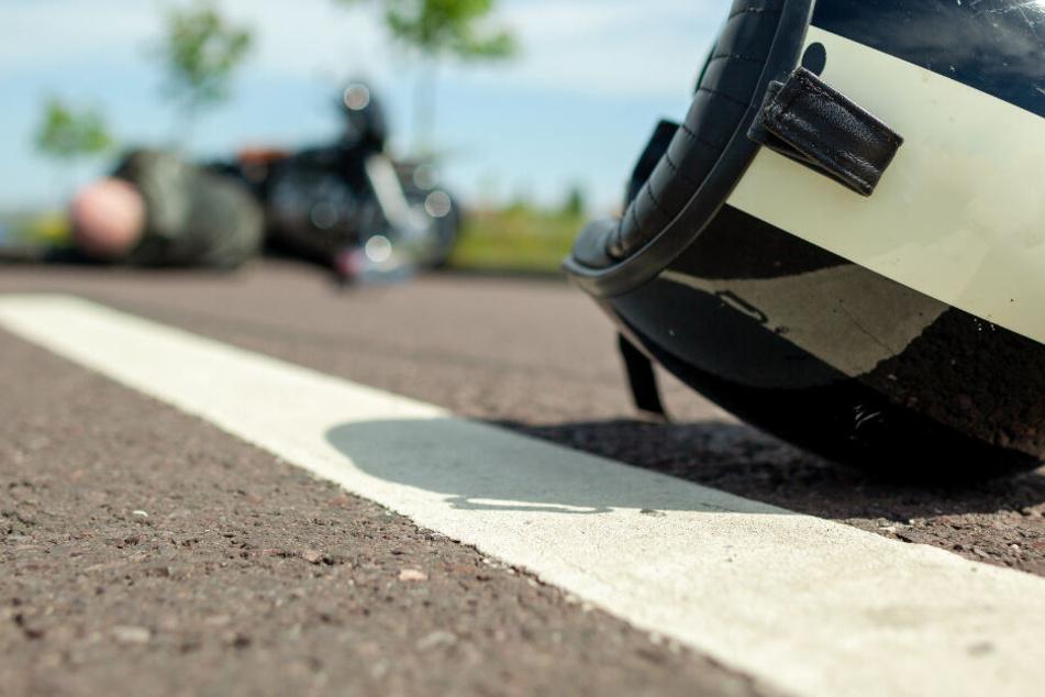 Mehrere Motorrad-Unfälle mit drei Schwerverletzten in Südhessen