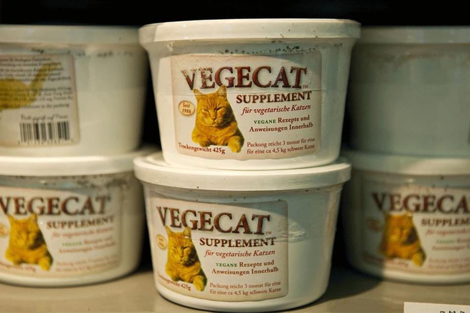 Veganes Katzenfutter.