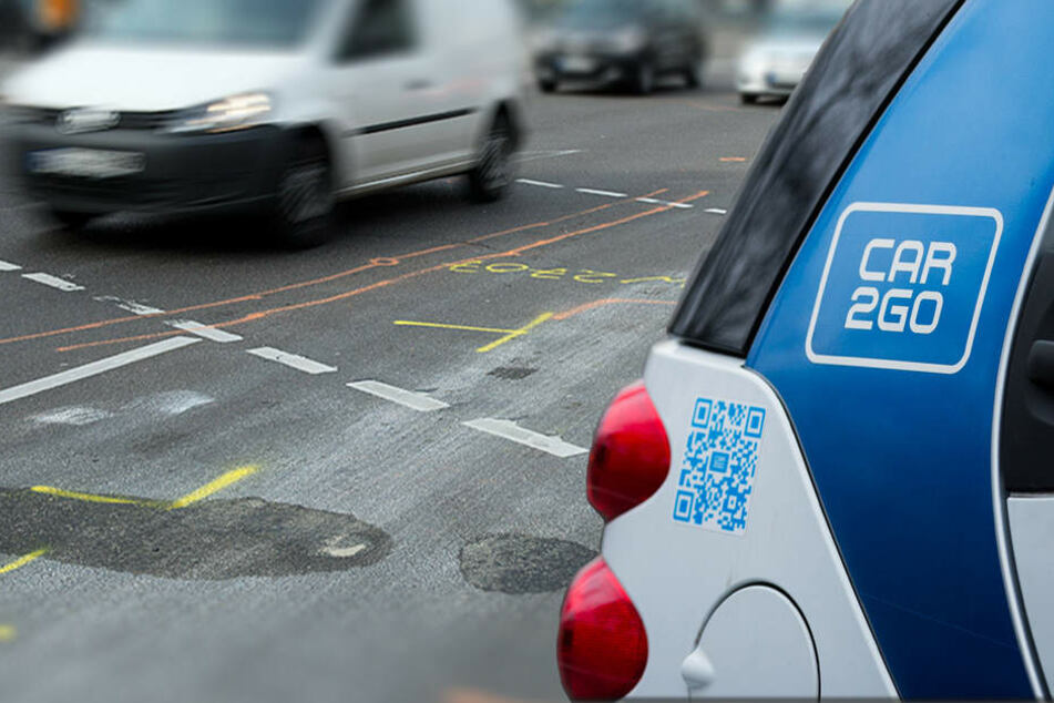 Staatsanwaltschaft, Polizei und Car2go arbeiten eng zusammen, um den Fall schnell aufzuklären. (Bildmontage)