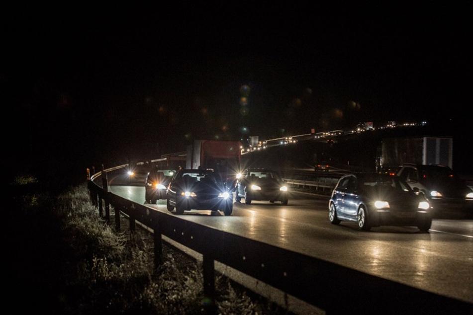 Auch am Abend staute sich der Verkehr noch über mehrere Kilometer.