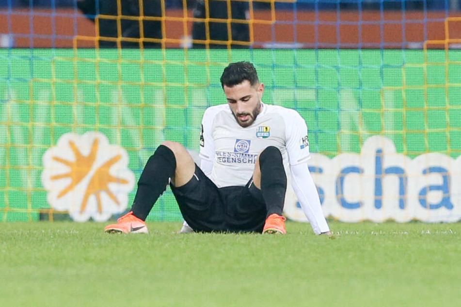 Davud Tuma enttäuscht nach der Niederlage in Braunschweig.