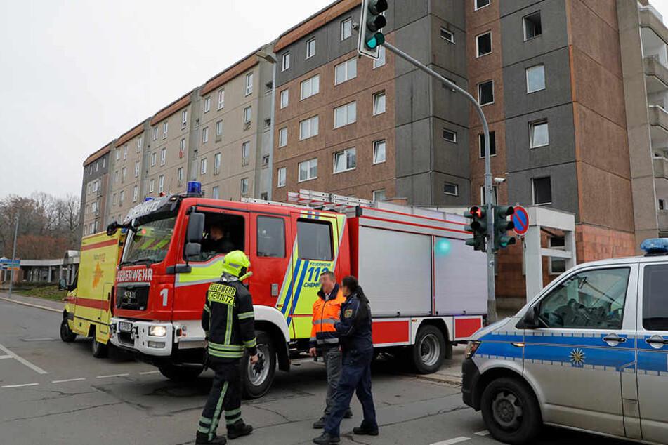 Chemnitz: Verletzte bei Wohnungsbrand in Chemnitz, darunter ein Kleinkind