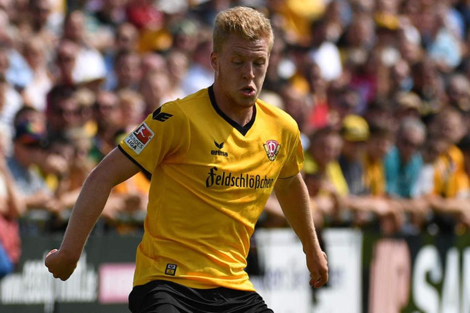 Robin Fluß trainiert bereits mit der ersten Mannschaft - zu einem Einsatz hat es aber bisher nicht gereicht.
