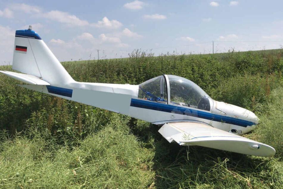 Der Pilot leitete eine Notlandung ein, die ihm mit Bravour gelang.