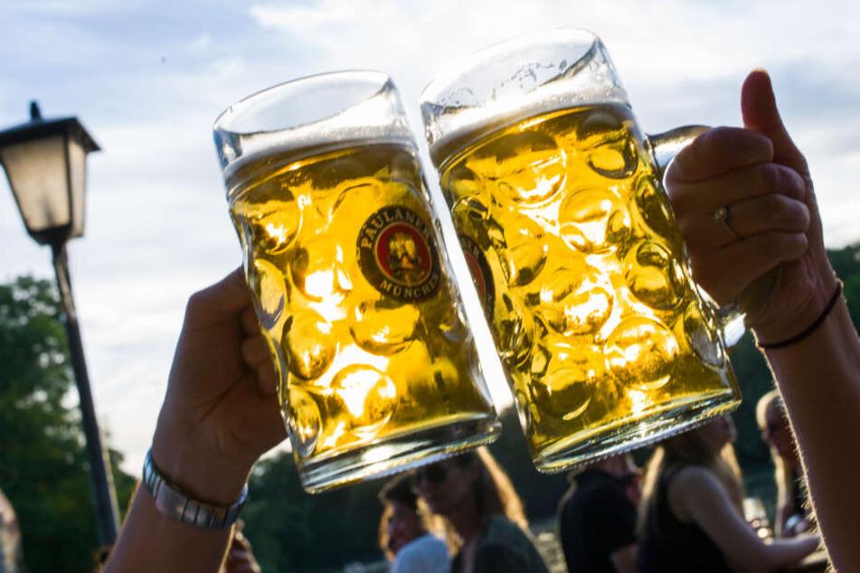 Anfang der Woche herrscht noch richtiges Biergarten-Wetter.