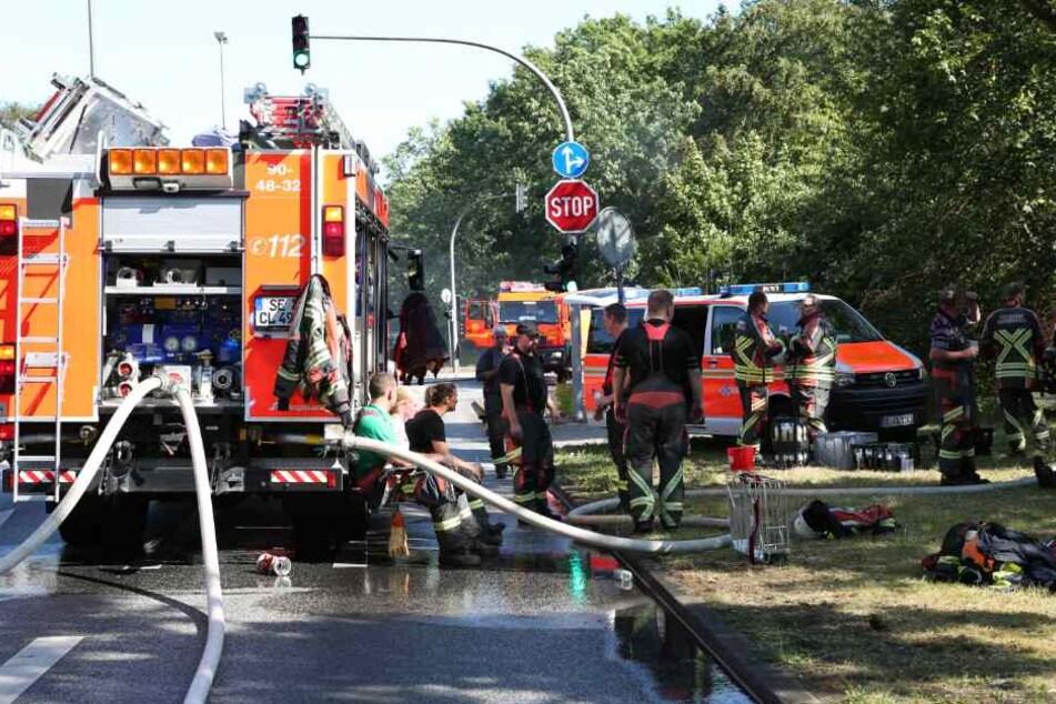 Zahlreiche Kräfte der Feuerwehr waren im Einsatz.