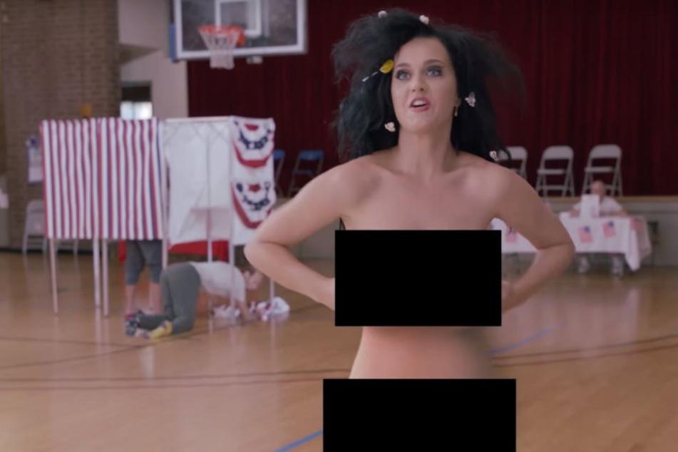 Katy Perry zieht für die US-Wahl blank