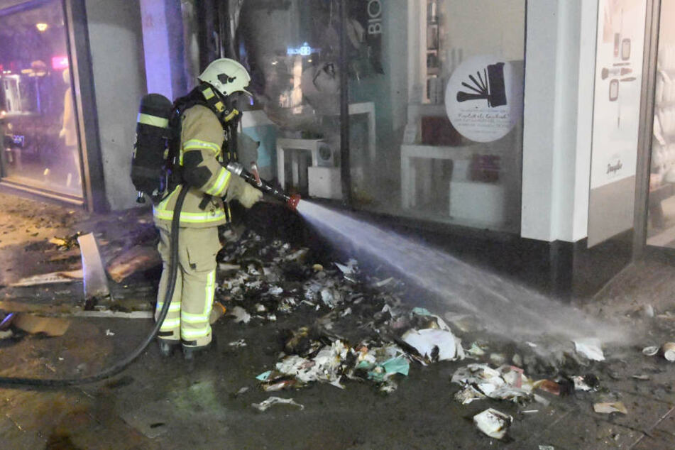 Die Feuerwehr konnte verhindern, dass das Feuer bewohnte Etagen erreicht.