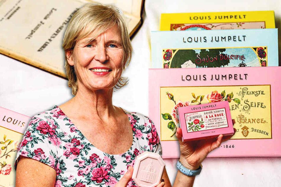 Auf dem Osterkunstmarkt auf Schloss Wackerbarth präsentiert Susanne Jumpelt  (56) ihre neuen Dresden-Seifen.