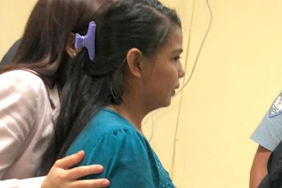 Imelda Cortez (re.) wird beschuldigt, dass sie ihr Kind abtreiben wollte.
