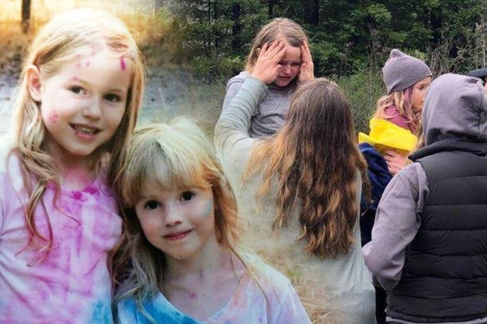Vermisste Schwestern (5, 8) werden nach 48 Stunden lebend im Wald gefunden