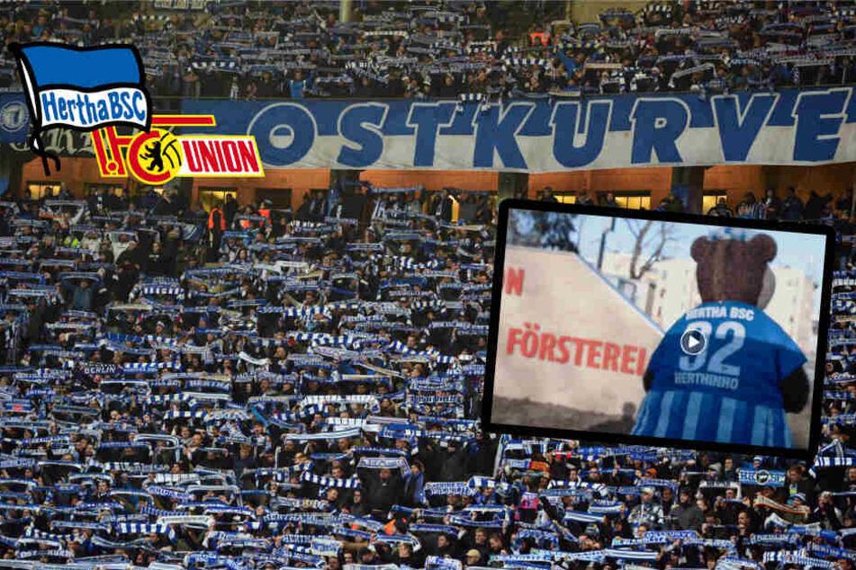 Nach Aufstiegs-Wünschen für Union: Hertha-Fans kritisieren Köpenick-Video!