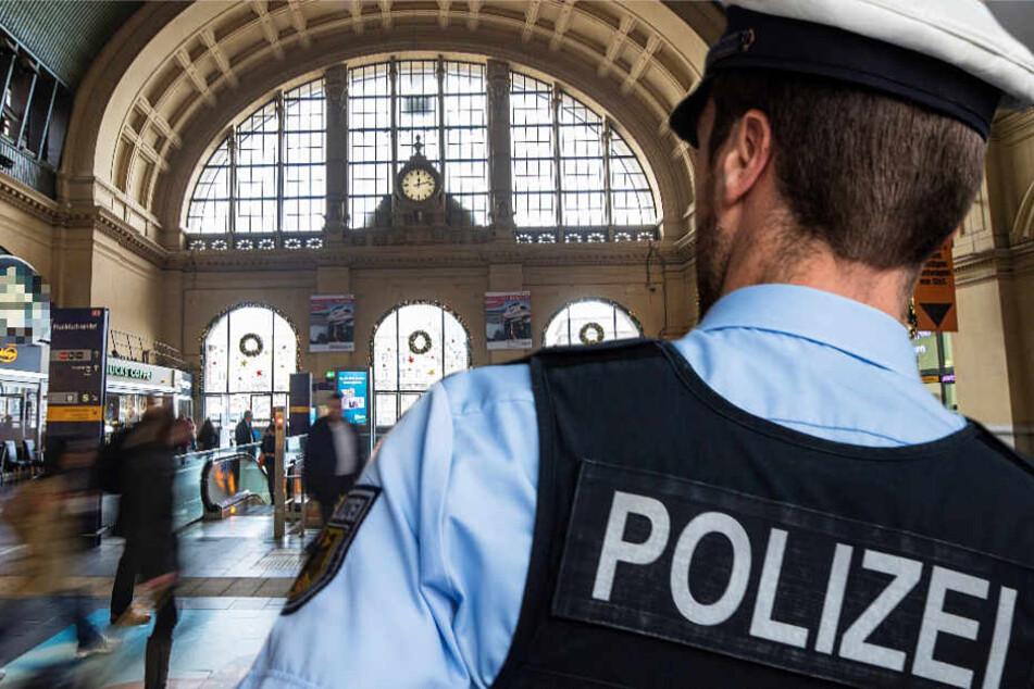 Bundespolizisten und Bahn-Mitarbeiter durchsuchten den Bahnhof (Symbolbild).