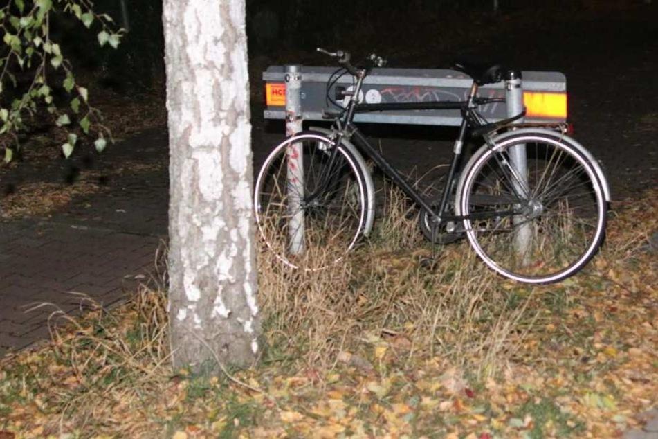 Der Messerstecher hat offenbar zuvor versucht, dieses Fahrrad zu klauen.