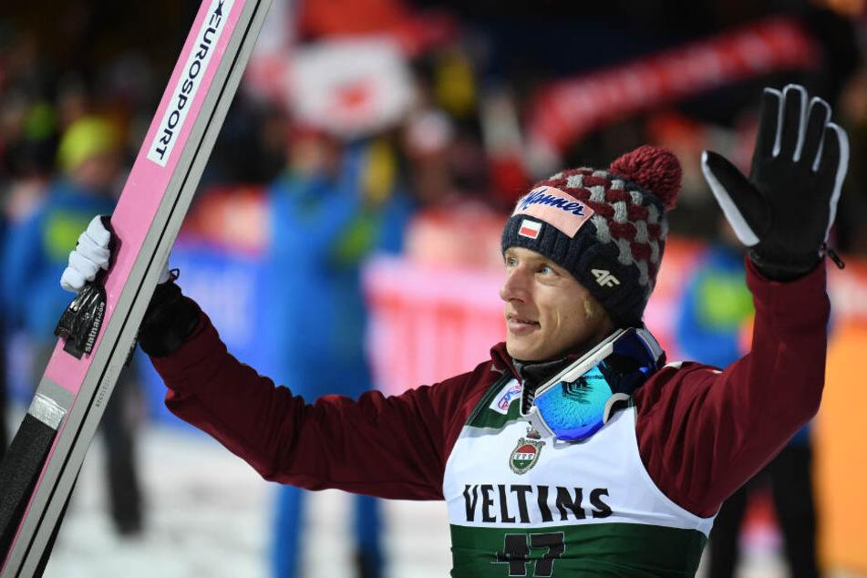 Der Pole Dawid Kubacki gewann beide Weltcup-Springen in Titisee-Neustadt am Wochenende.