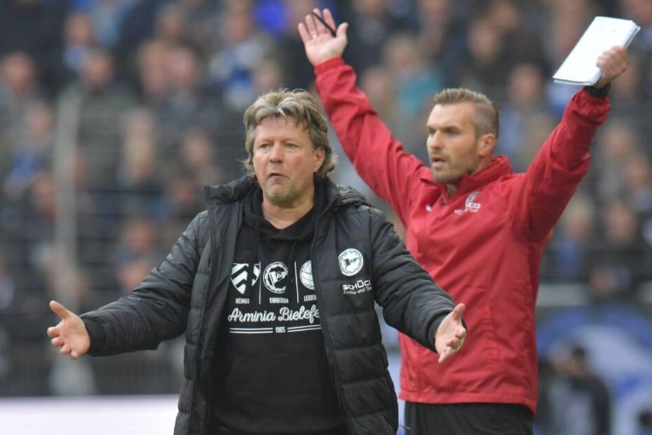 Bei Arminia Bielefeld arbeiteten Trainer Jeff Saibene (l.) und Carsten Rump schon erfolgreich zusammen.