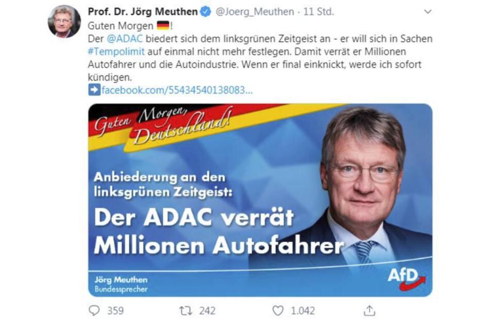 Das ADAC-Posting am Auschwitz-Gedenktag.