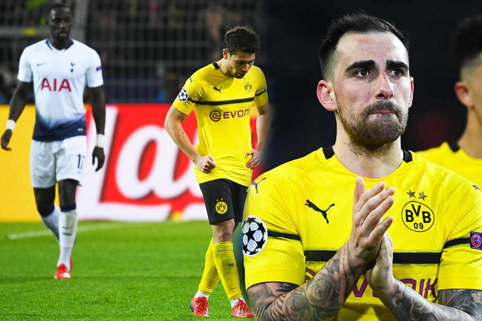 Paco Alcacer (r.) und Raphael Guerreiro (M.) werden dem BVB in München fehlen.