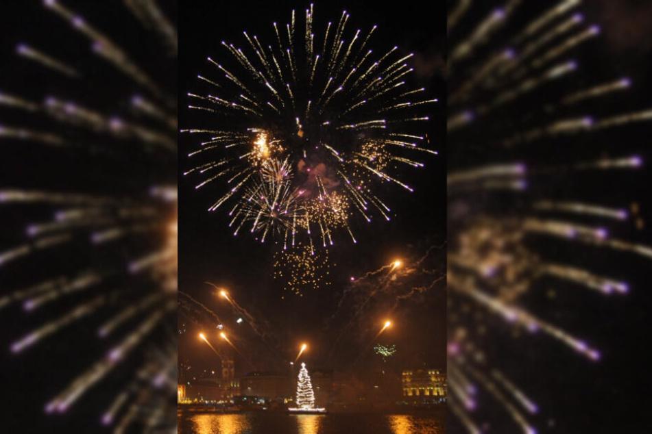 Am Hamburger Jungfernstieg ist das Abfeuern von Feuerwerk in diesem Jahr verboten.