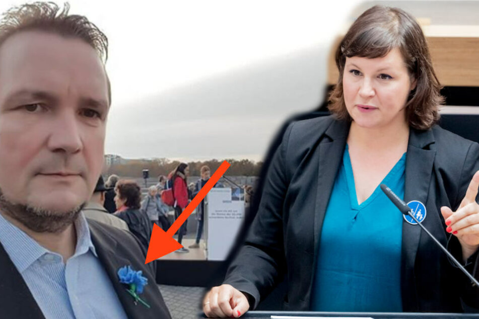 Skandal bei Pogrom-Gedenkfeier: AfD-Mann trägt Nazi-Symbol!