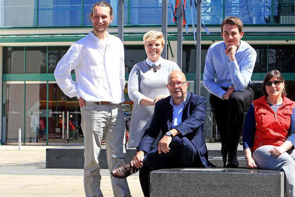 Chris Münster (32), Nicole Oeser (27), Stefan Tschök (60), Samuel Harnisch  (16) und Ute Lierath (60) sind Botschafter der Kulturhauptstadt-Bewerbung.