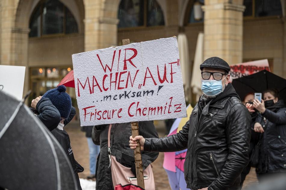 Die Protestierenden machten auf ihre prekäre Lage aufmerksam.