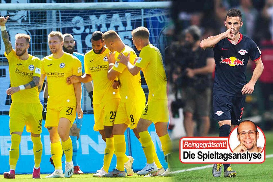 RB Leipzig, Arminia Bielefeld, SpVgg Unterhaching, Hallescher FC: Warum diese Teams rocken