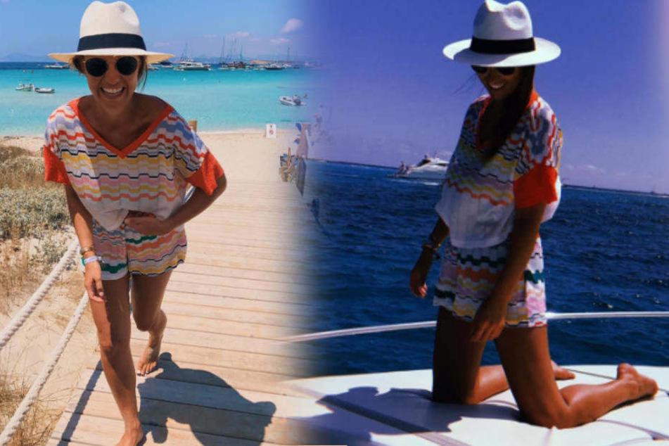 Letzte Urlaubs-Tage: Laura Wontorra knackbraun auf Ibiza